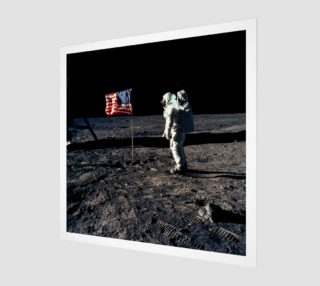 Buzz Aldrin and the U.S. Flag on the Moon preview