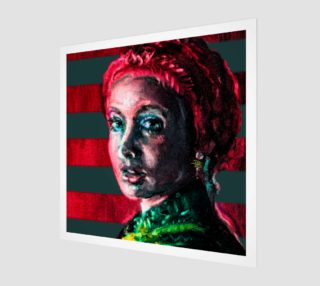 Girl with the Devin Earring  Fashion-Match Wall Art Print  preview