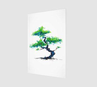 Blue Bonsai Watercolor  preview