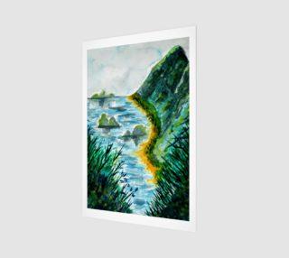 Beach Mountains Watercolor preview