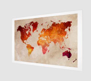 World Map red aperçu