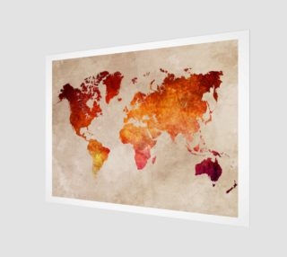 World Map red aperçu