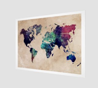 World Map 1 art print  aperçu
