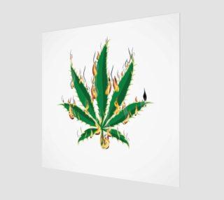 Flaming Marijuana Pot Leaf      aperçu