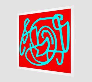 Aperçu de Red blue turquoise gar