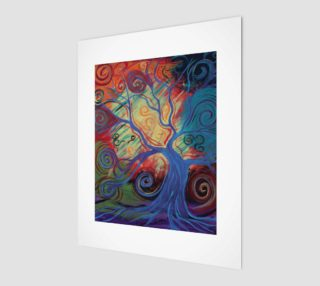 Tree of a Colourful Life Art Print 8x10 preview