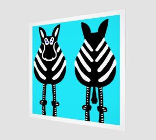 "Zebra Both Ends Wall Art 12"" x 12"" preview"