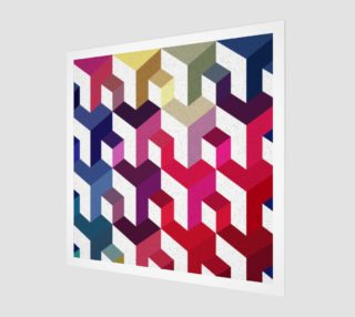 Color polygonal geometric abstraction preview