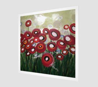 Whimsical Poppy Art Print preview
