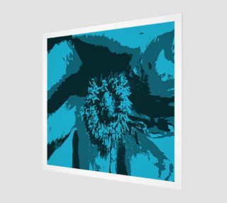 Pretty in Blue Peony Print preview