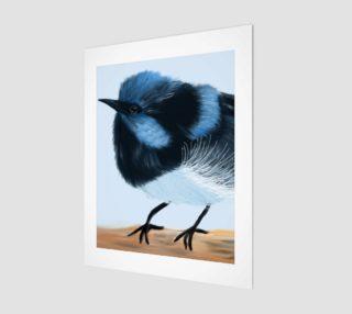 """Blue Wren Wall Art  11"""" x 14"""" preview"""