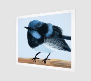 """Blue Wren Wall Art 24"""" x 20"""" preview"""