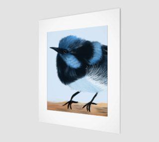 """Blue Wren Wall Art  8"""" x 10"""" preview"""