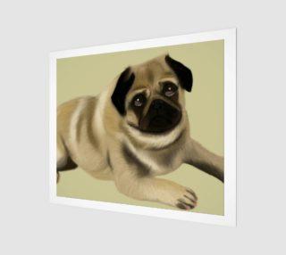 "Pug Love Wall Art 24"" x 20"" preview"
