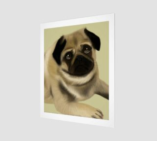"Pug Love Wall Art 16"" x 20"" preview"