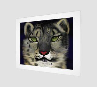 "Snow Leopard Wall Art 14"" x 11"" preview"