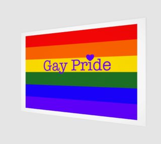 """Gay Pride Love Wall Art 12"""" x 8"""" preview"""