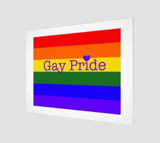 """Gay Pride Love Wall Art 14' x 11"""" preview"""