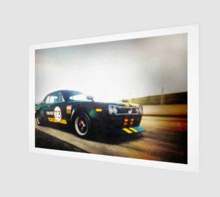 Vintage Car Racing Scenery preview