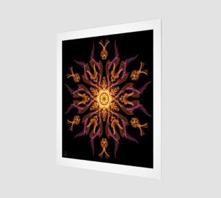 Flame Flower modern art print by Tabz Jones preview