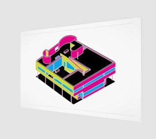 Villa Savoye Neon Le Corbusier aperçu