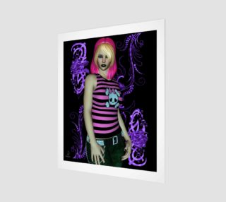 Hot Pink Fantasy Goth Pinup by Tabz Jones preview