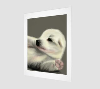 "Adorable Puppy Wall Art 11"" x 14"" preview"