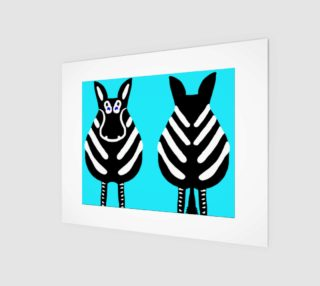 "Zebra Both Ends Wall Art 10"" x 8"" preview"