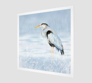 Watercolor Great Blue Heron Bird preview