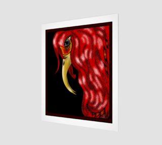 Aperçu de Red Heron Fantasy Art by Tabz Jones
