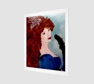 Aperçu de Lost Lady With Fan Art Print by Tabz Jones