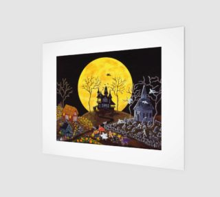 Halloween Keep Running art print  preview