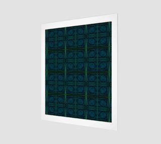 Aperçu de Mod Teal Blue with Green Stripes Circles Pattern