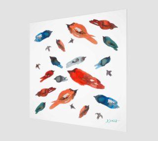 Wall art Little Fish Birds preview