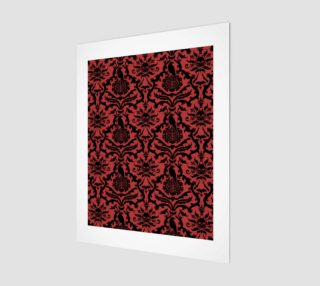 Horror Story Damask in Red preview
