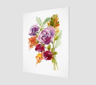 Aperçu de Purple Rose Fall Bouquet