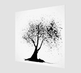 Black graphic tree preview