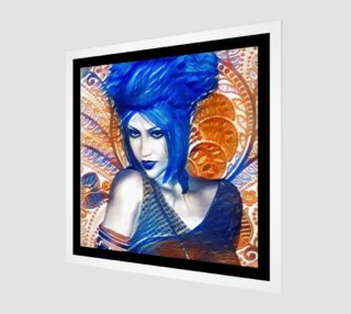 Aperçu de Blue Girl fantasy art print by Tabz Jones
