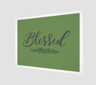 Aperçu de Blessed Wood Sign in Forest Green