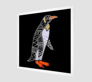 Aperçu de Funny Cool Penguin Abstract Art