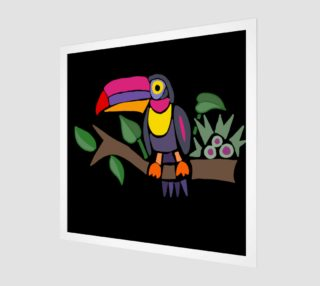 Aperçu de Colorful Toucan Bird Abstract Art
