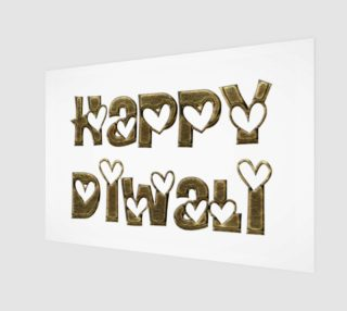 Festival of Lights Happy Diwali Greeting Typography Art Print preview