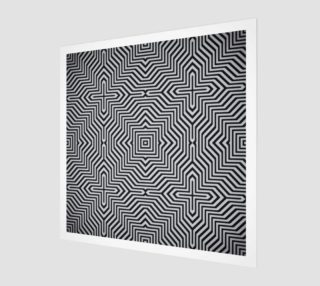 Aperçu de Minimal Geometrical Optical Illusion Style Pattern in Black & White