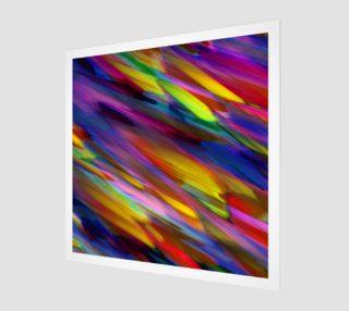 Colorful digital art splashing G398 Wall Art preview