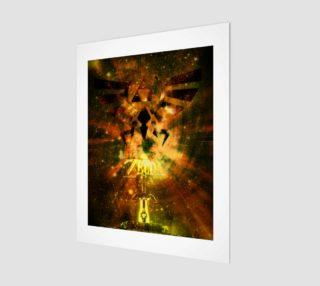 11x14 legend of zelda wood print preview
