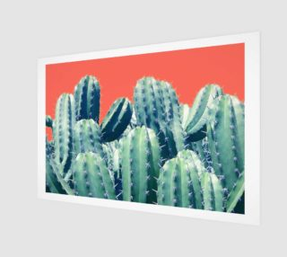 Cactus on coral Poster 3:2 preview