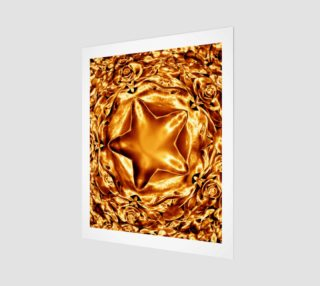 Elegant Shiny Copper Gold Star preview