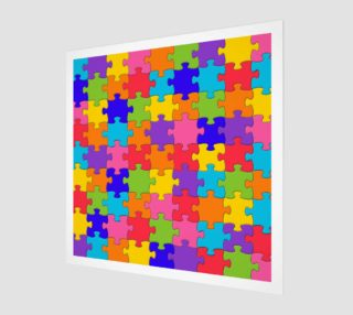 Funny Colorful Jigsaw Puzzle Pieces preview