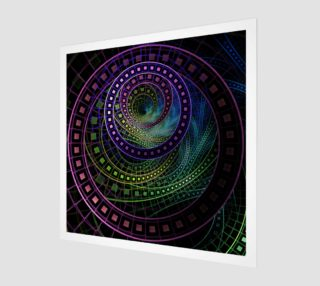 Aperçu de Wood Print with a Fractal Technicolor Rainbow of Oz the Great and Powerful