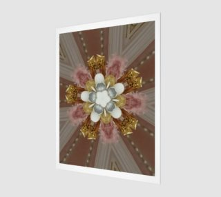 Elegant Antique Pink Shiny Gold Silver White Flower preview